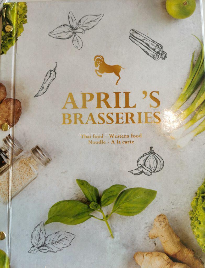 april's brasseries เมนู